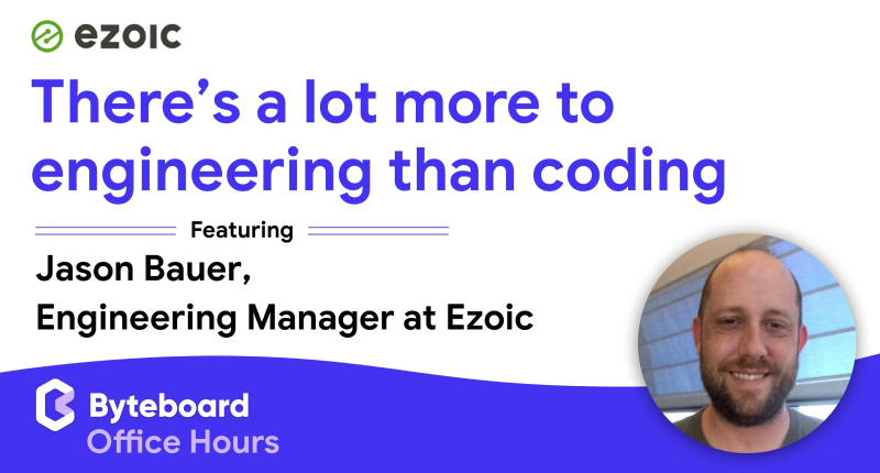 Jason Bauer, Engineering Manager at Ezoic